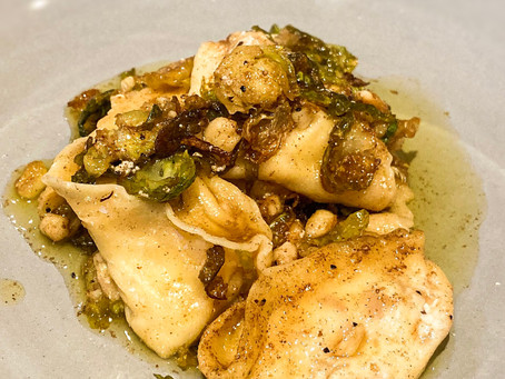 Bacon, Ricotta and Sprouts Tortellini