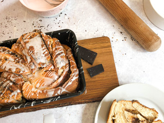 Twisted Hazelnut Loaf