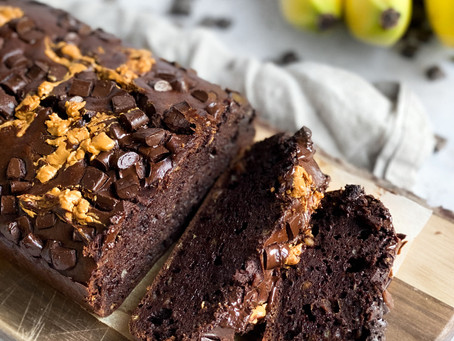 PB & Chocolate Banana Bread