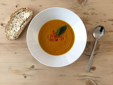 Creamy Carrot Coconut Soup - Vegan