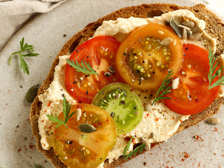 Tomato and Hummus Toast