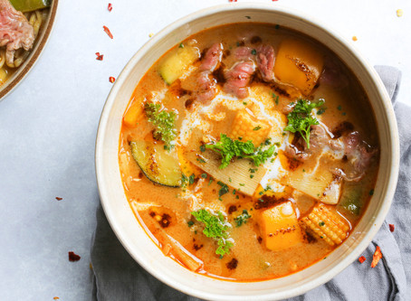 Beef Tom Yum Coconut Soup