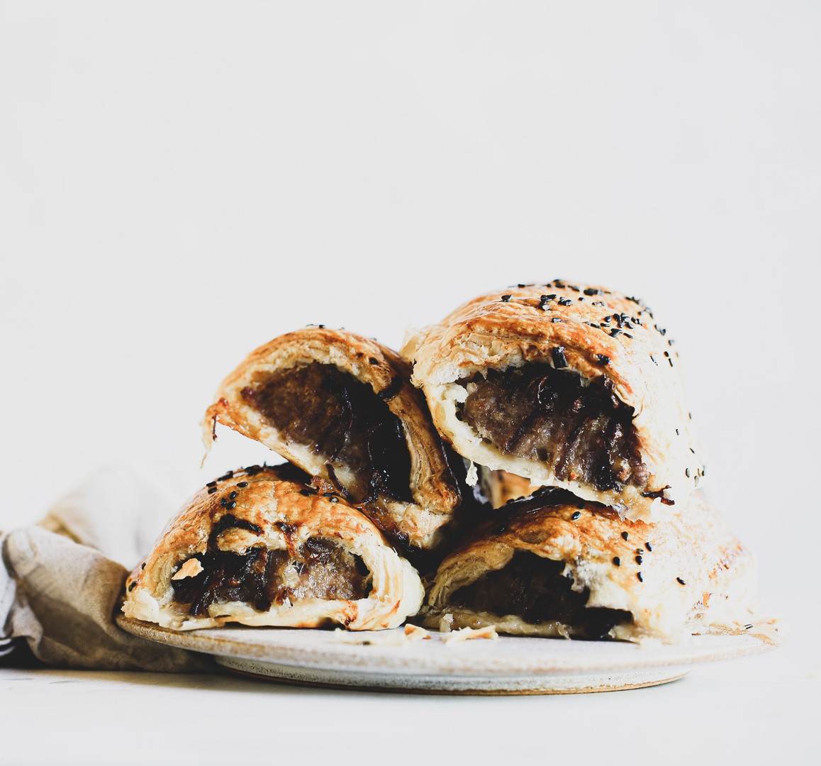 Sausage Roll with Caramalised Onion