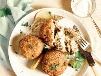 Mushroom and Goats Cheese Arancini