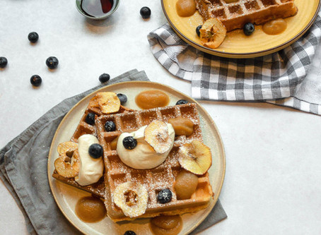 Healthier Apple Waffles