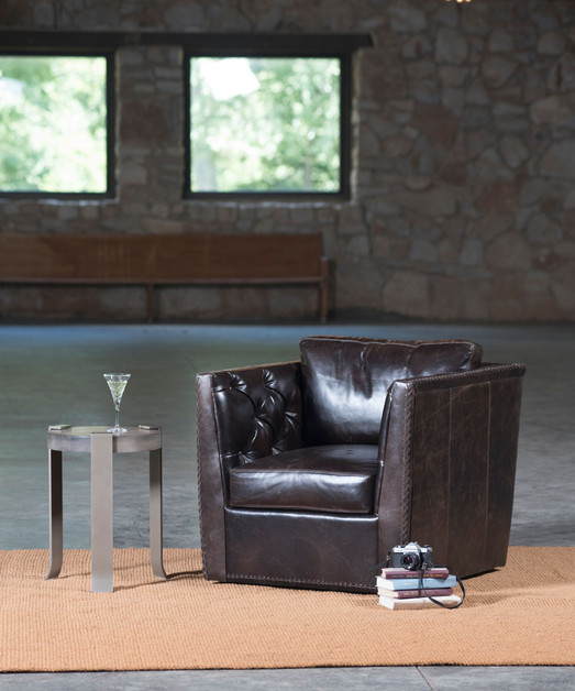 West End Swivel Chair, Werthan Side table