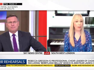 Bec Gresson on Sky News
