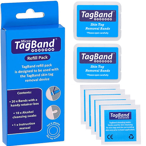 TagBand Refill Bands for Small/Medium Skin Tags