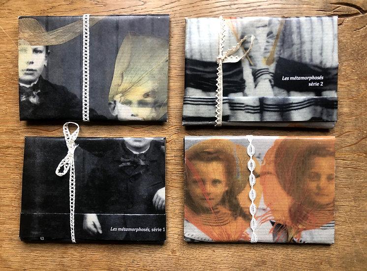 """Lot des 2 séries de cartes postales """"Les métamorphosés"""""""