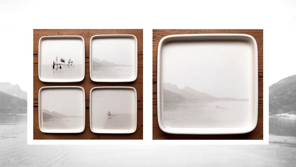 Petite assiette carrée paysages
