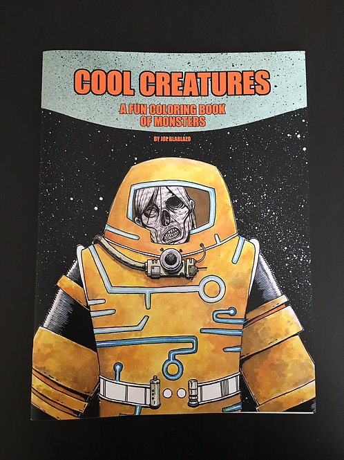 cool creatures coloring book