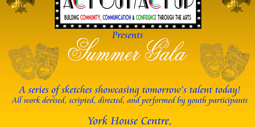 ACT OUT & ACT UP's Summer Gala