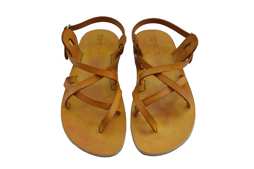 Yellow Triple Leather Sandals For Men & Women