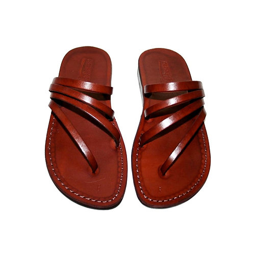 Brown Rainbow Leather Sandals For Men & Women