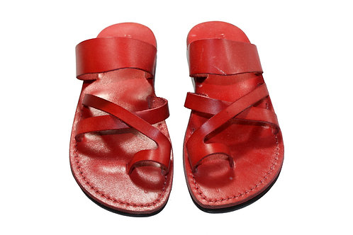 Red Bath Leather Sandals For Men & Women