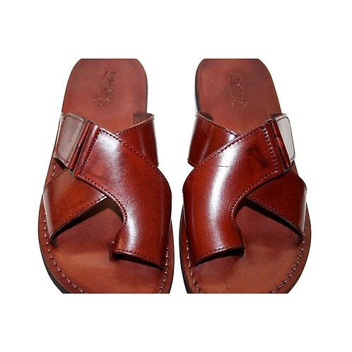 Brown Tiger Leather Sandals For Men & Women