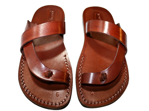 Brown Earth Leather Sandals For Men & Women