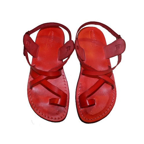 Red Roxy Leather Sandals For Men & Women