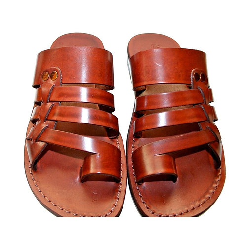 Brown Skate Leather Sandals For Men & Women
