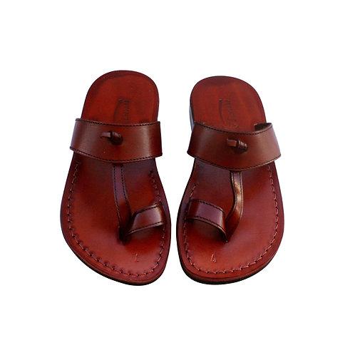 Brown Twizzle Leather Sandals For Men & Women