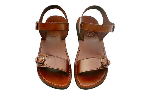Vegan Brown Eclipse Handmade Sandals For Men & Women