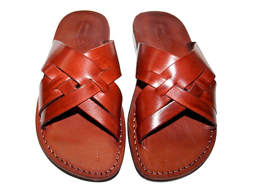 Brown Capri Leather Sandals For Men & Women