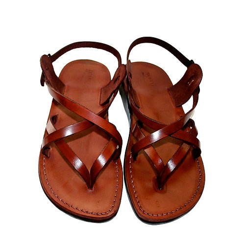 Brown Mix Leather Sandals For Men & Women