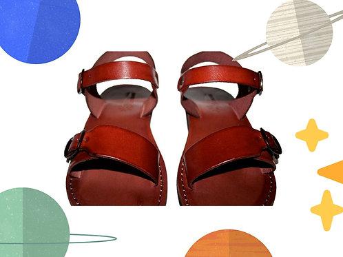 Brown Eclipse Handmade Leather Sandals for Children
