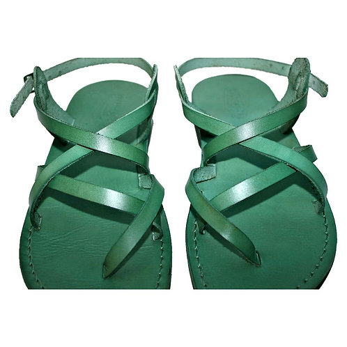 Green Triple Leather Sandals For Men & Women
