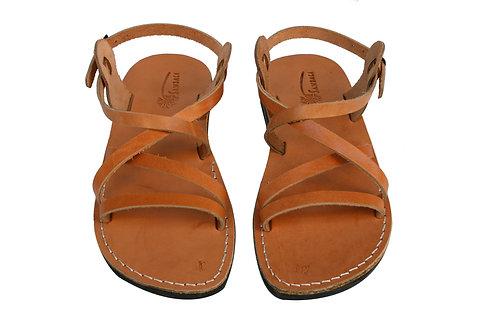 Caramel Star Leather Sandals For Men & Women