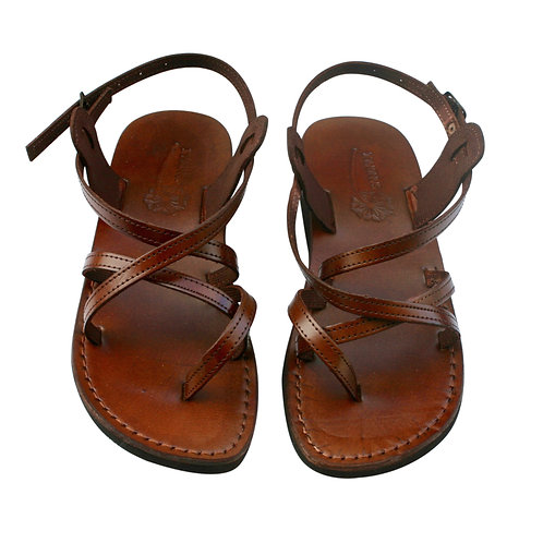 Vegan Brown Triple Handmade Sandals For Men & Women
