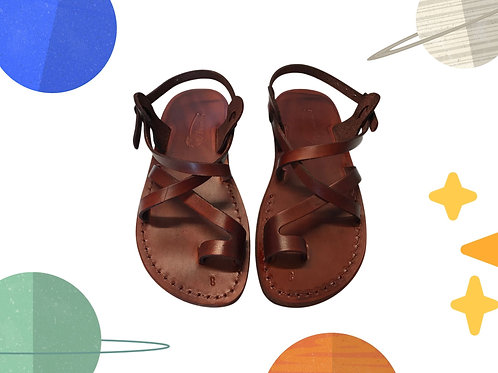 Brown Roxy Handmade Leather Sandals for Children