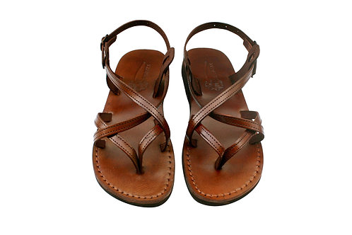 Vegan Brown Mix Handmade Sandals For Men & Women