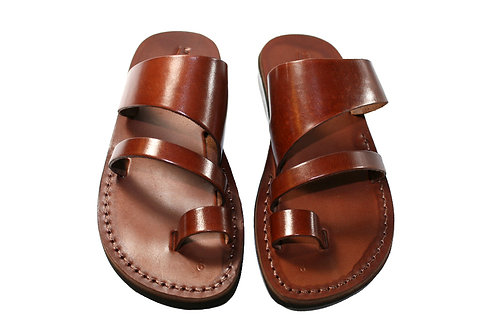 Brown Thong Leather Sandals For Men & Women