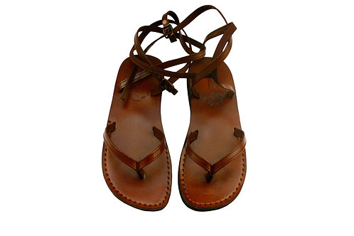 Vegan Brown Ankle-Strap Handmade Sandals For Men & Women