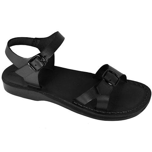 Black Billa Leather Sandals For Men & Women