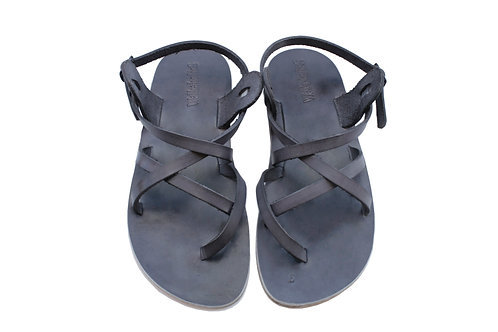 Grey Triple Leather Sandals For Men & Women