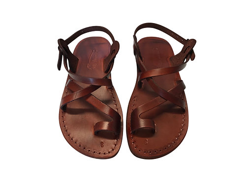 Brown Roxy Leather Sandals For Men & Women