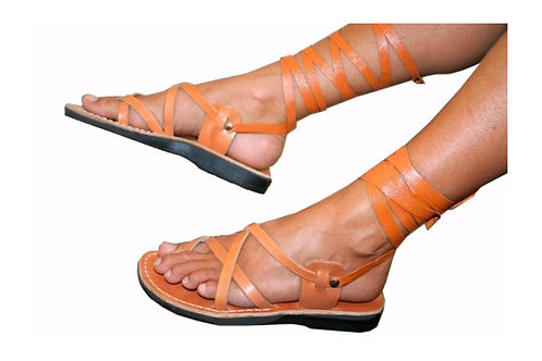 Caramel Gladiator Leather Sandals For Men & Women