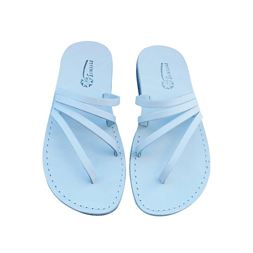 White Rainbow Leather Sandals For Men & Women