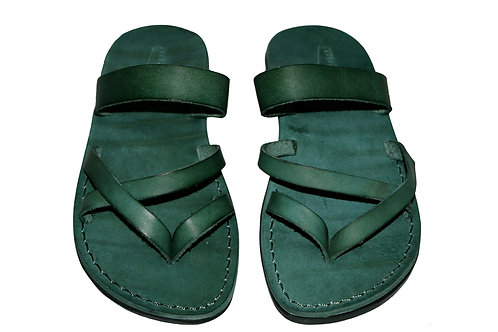 Green Moon Leather Sandals For Men & Women