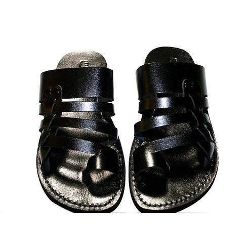 Black Skate Leather Sandals For Men & Women