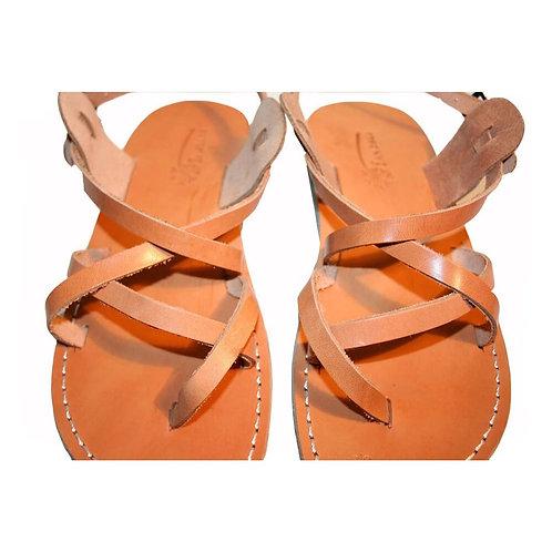 Caramel Triple Leather Sandals For Men & Women