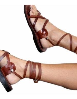 Brown Gladiator Leather Sandals For Men & Women