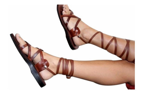 Brown Gladiator Leather Sandals For Men & Women