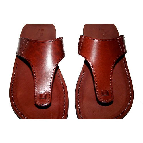 Brown Wave Leather Sandals For Men & Women