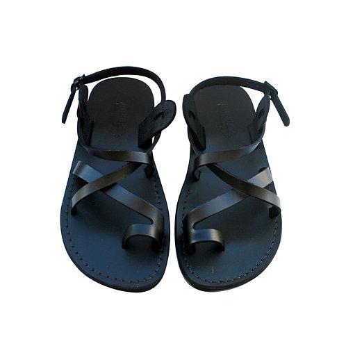 Black Roxy Leather Sandals For Men & Women