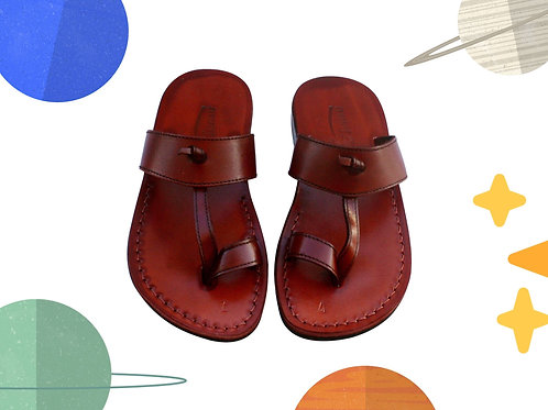 Brown Twizzle Handmade Leather Sandals for Children