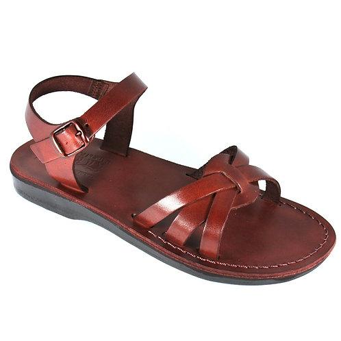 Brown Gaia Leather Sandals For Men & Women