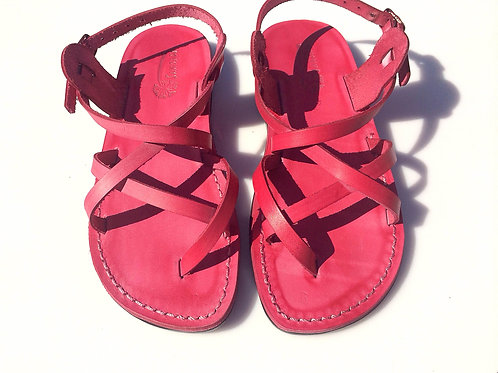 Pink Triple Leather Sandals For Men & Women